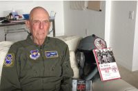 Lt Col Scott Weaver interviews Capt Jerry Yellin