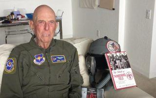 Lt Col Scott Weaver interviews Capt Jerry Yellin